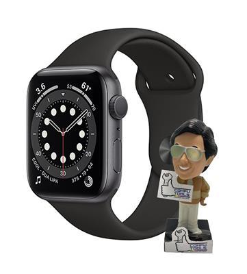 Reloj inteligente APPLE WATCH SERIES 6 44MM Space Gray Aluminum Case Black Sport Band