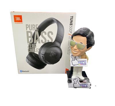 Auricular JBL 500BT bluetooth on ear c/ mic color negro pure bass sound