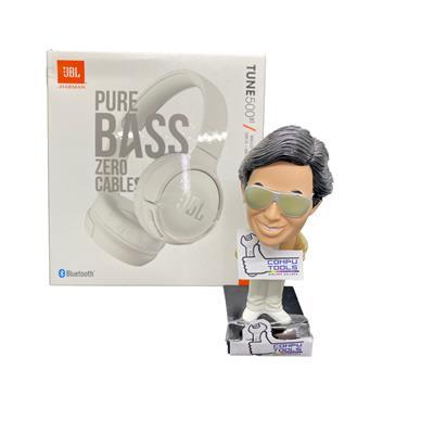 Auricular JBL 500BT bluetooth on ear c/ mic color blanco pure bass sound