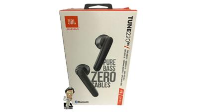 Auricular JBL TUNE 220 TWS Bluetooth Earbuds c/ mic color negro