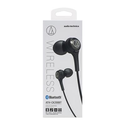 Auricular audio-technica ATH-CK200BT bluetooth in ear c/ mic color negro