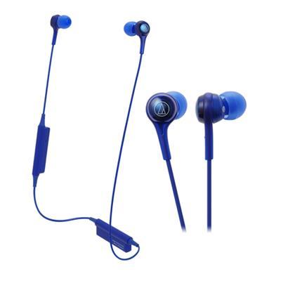Auricular audio-technica ATH-CK200BT bluetooth in ear c/ mic color azul