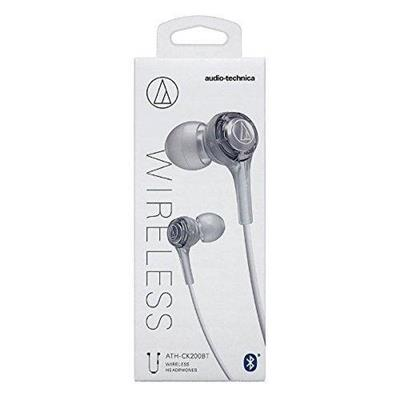 Auricular audio-technica ATH-CK200BT bluetooth in ear c/ mic color silver