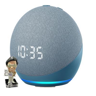 Parlante inalámbrico AMAZON Echo Dot 4ta Generación c/ reloj Bluetooth color Azul
