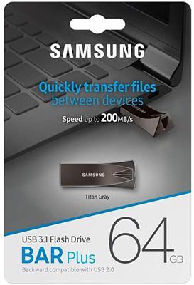 Pendrive SAMSUNG MUF-64BE4/AM 64gb BAR Plus USB 3.